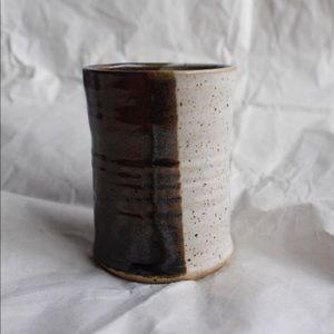 Unique Pottery Piece Pencil Holder Bud Vase